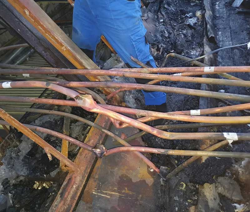 Восстановление фреоновых труб системы кондиционирования