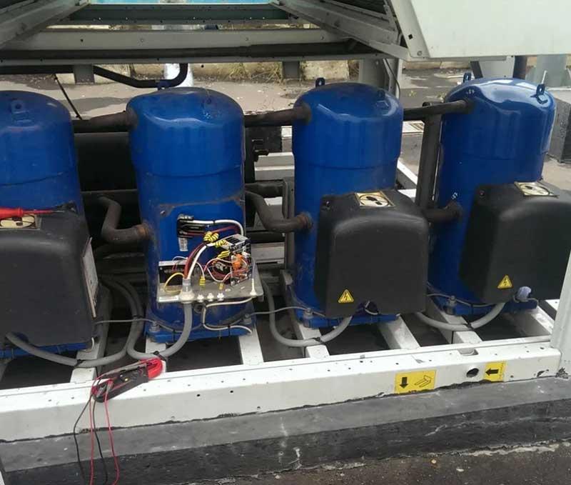 замена компрессора в рамках ремонта и обслуживания систем вентиляции и кондиционирования